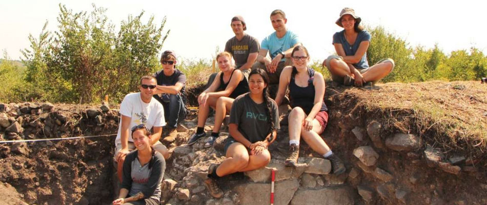 Male and female trainee archaeologists in Bulgaria, organised by Aeon Archaeology